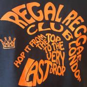 REGAL REGGAE CLUB T-SHIRT BLACK & ORANGE